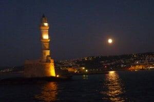 Leuchtturm by night